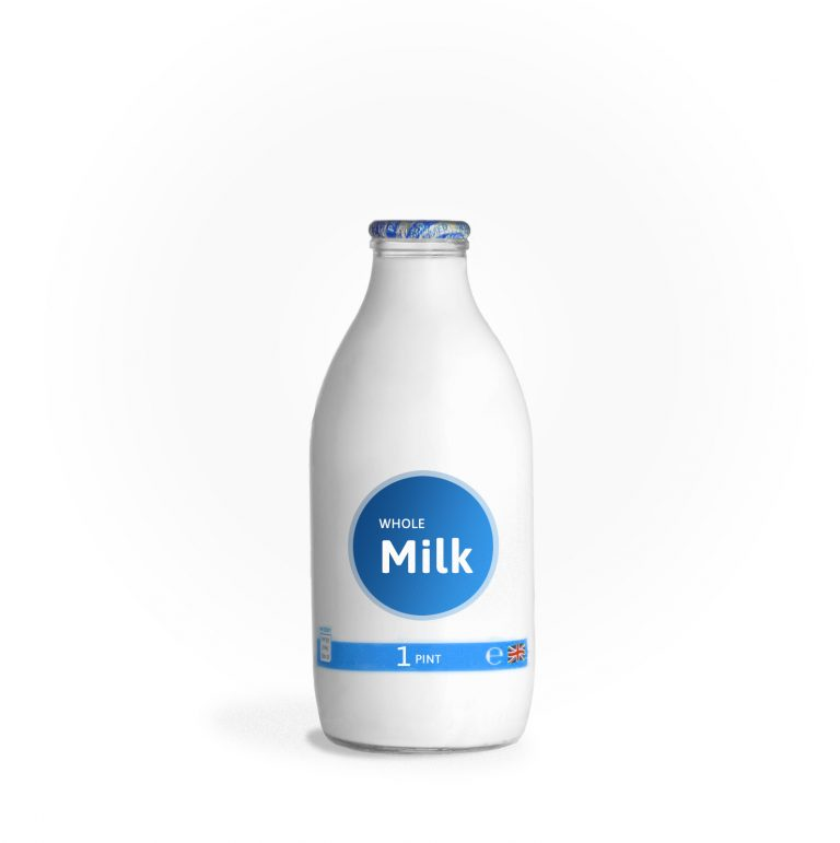 glass office milk bottle