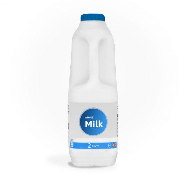 2 litres whole milk delivered