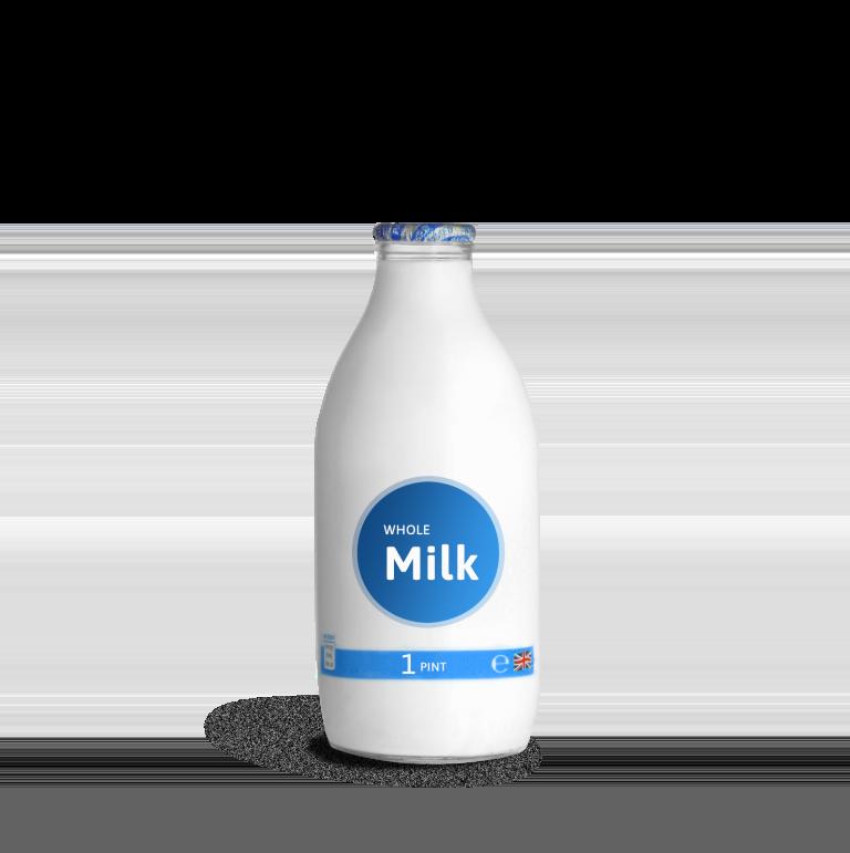 London Milk Delivery Glass Bottle