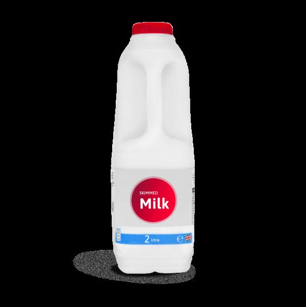 skimmed milk bottle