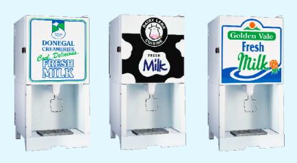 Branded Milk Dispenser for Restaurant or Brassarire
