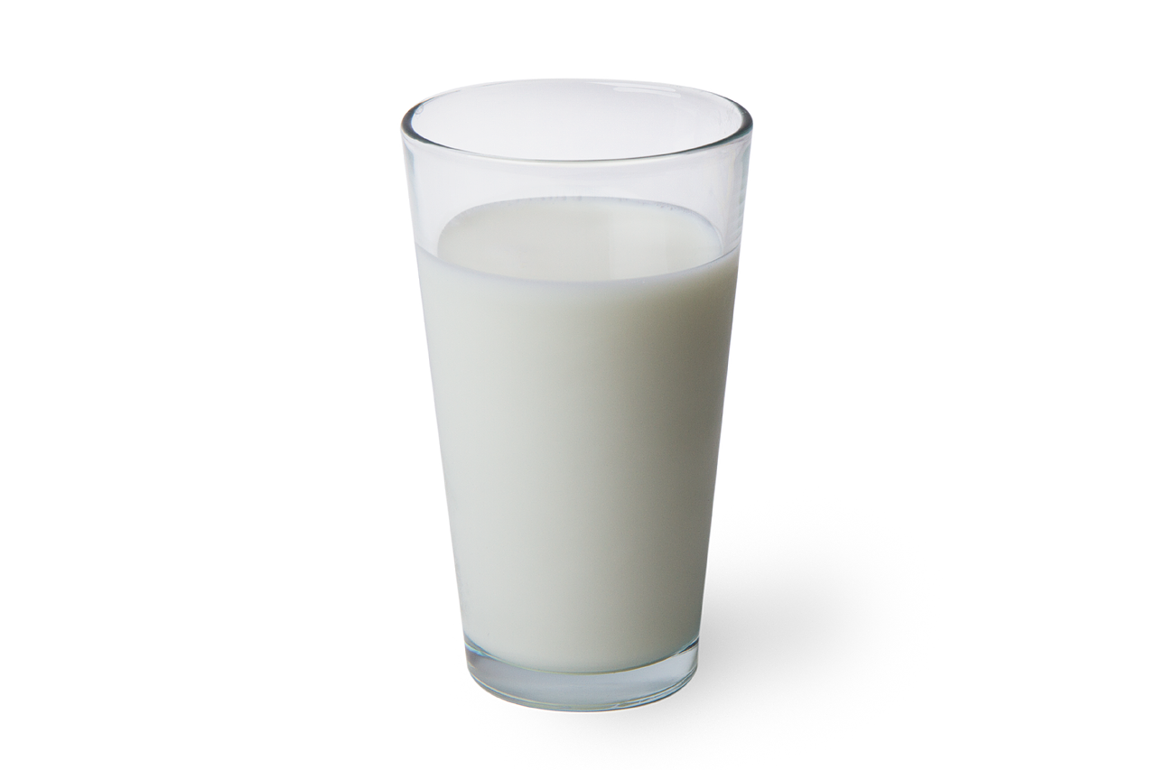 a glass of office milk